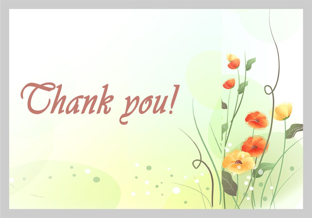 Colorful Flowers Hand Drawn Thank You Cards INHW050T  Invitation - thank you note
