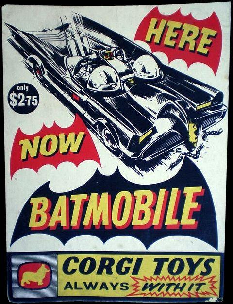 Batmobile (by Corgi Toys).