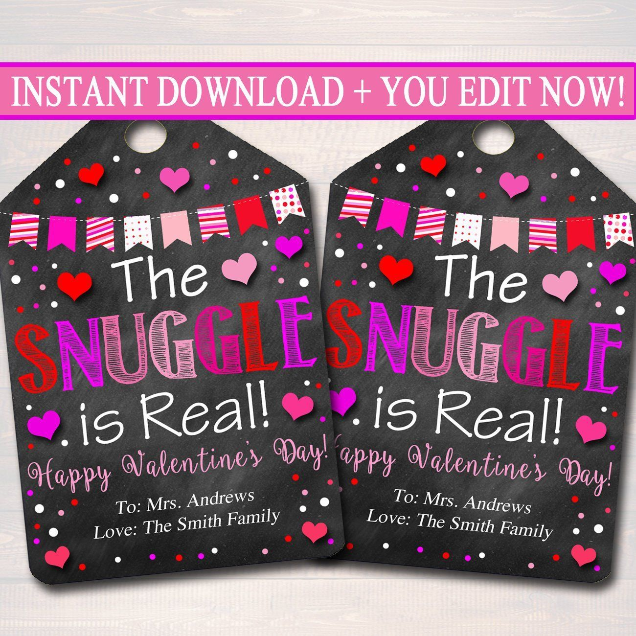 The Snuggle Is Real Valentine S Day Gift Tags Office Staff