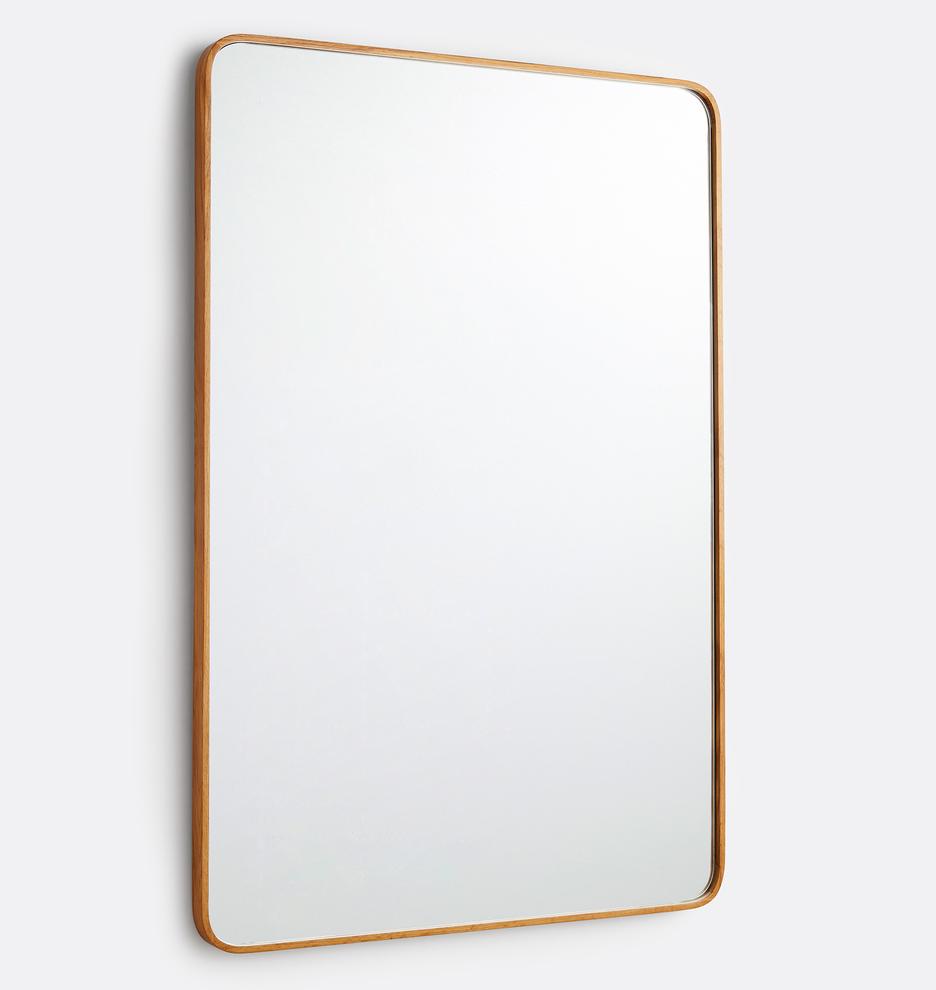 32 X 48 Bentwood White Oak Rounded Rectangle Mirror Rejuvenation In 2021 Rectangle Mirror Rounded Rectangle Home Decor Mirrors