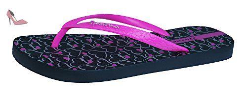 Ipanema Temas Flip Flops femmes / Sandales-Black / Pink-39 - Chaussures  ipanema