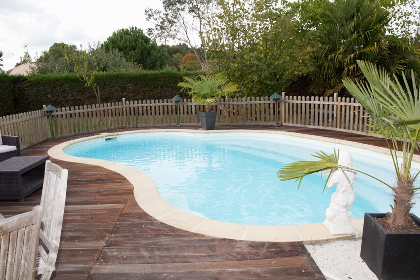 27 Best Kidney Shaped Pool Designs Kidney Shaped Pool Wood Pool Deck Pool Designs
