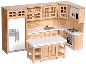 1:12 Scale Premium Kitchen Collection (White/Oak/W
