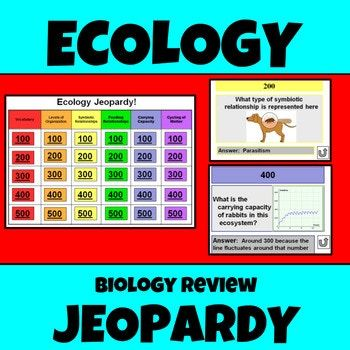 Ecology Jeopardy Biology Eoc Review Tpt Science Lessons