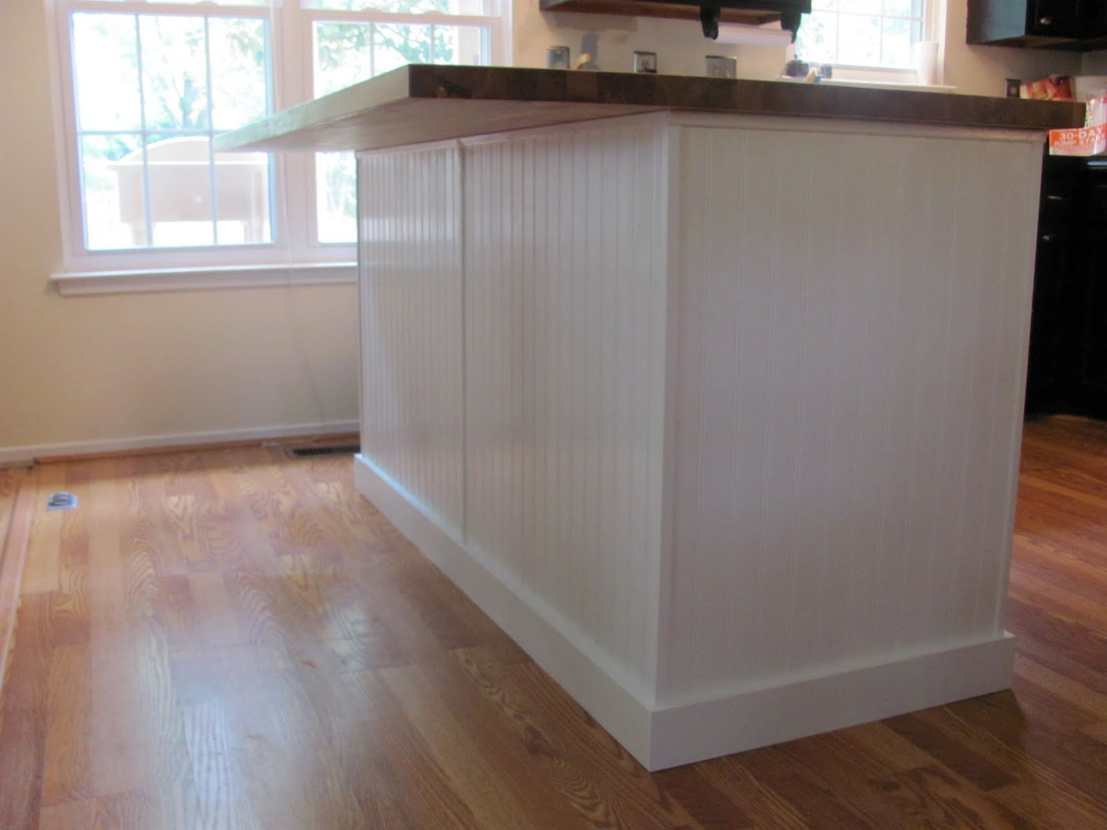 Kitchen Island Cabinets Both Sides How To Install Bead And Board Paneling Use Stained Wood On