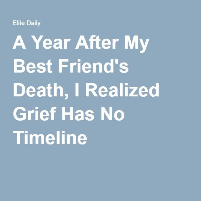 losing a friend to death