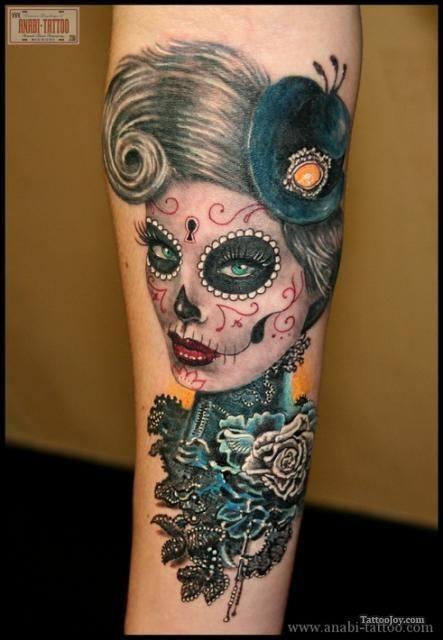 Dia de los Muertos tattoo.  LOVE her!