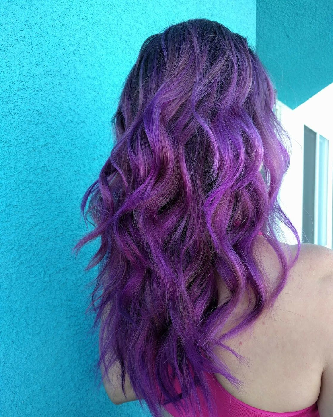 Ombre purple (one year ago) Ion hair colors, Orchid hair