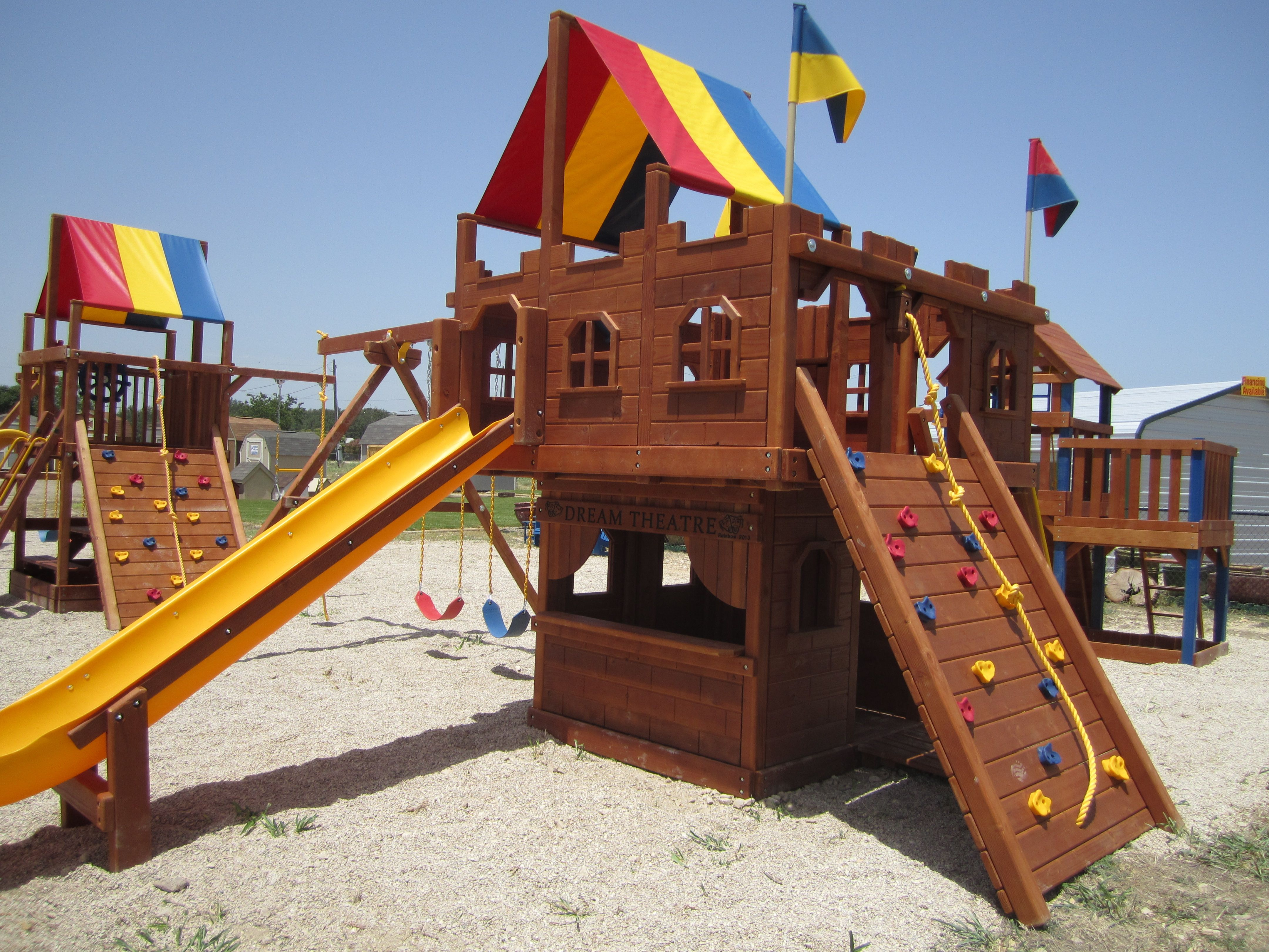 Nolanville, TX | Rainbow play systems, New homeowner, Home ...