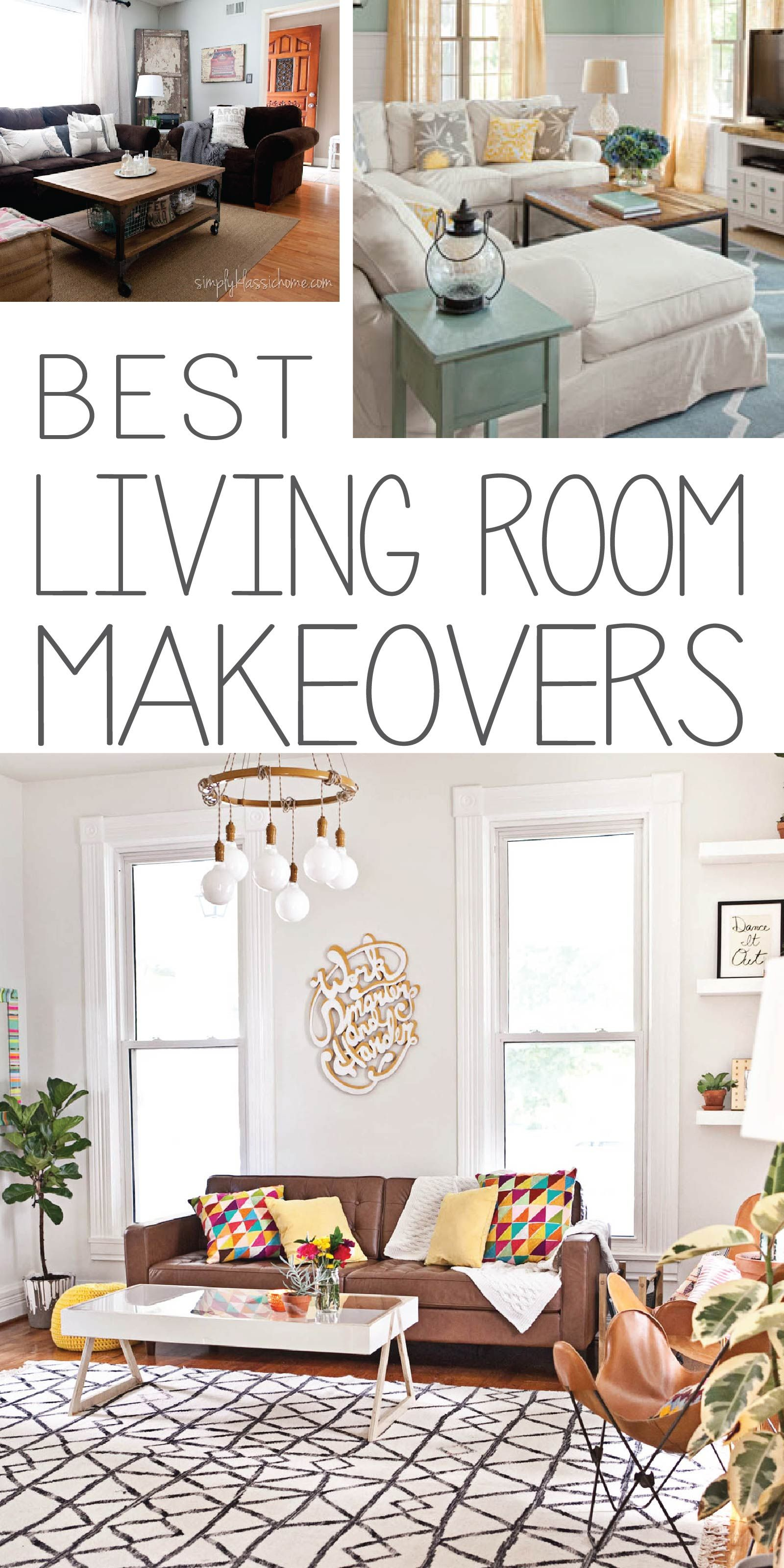 Eye Popping Living Room Makeovers Painted Furniture Ideas Living Room Makeover Room Makeover Home Decor Living room makeover ideas