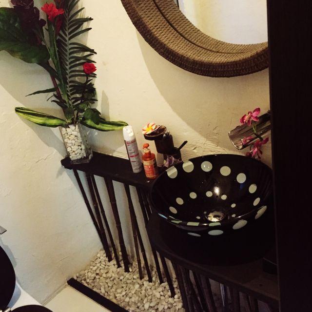 バス トイレ リノベーション アジアン 洗面所 観葉植物のインテリア実例 2015 01 29 21 34 26 Roomclip ルームクリップ インテリア バリ インテリア インテリア アジアン