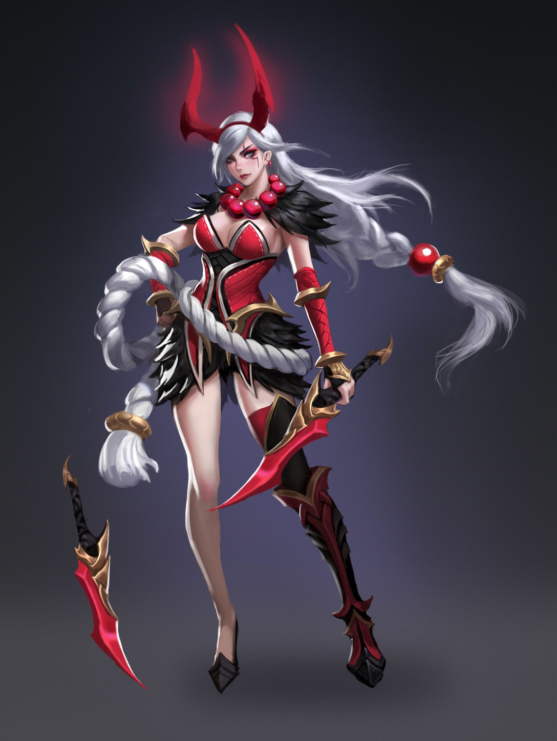 Blood Moon Katarina | League of Legends Skin Concept by Leo