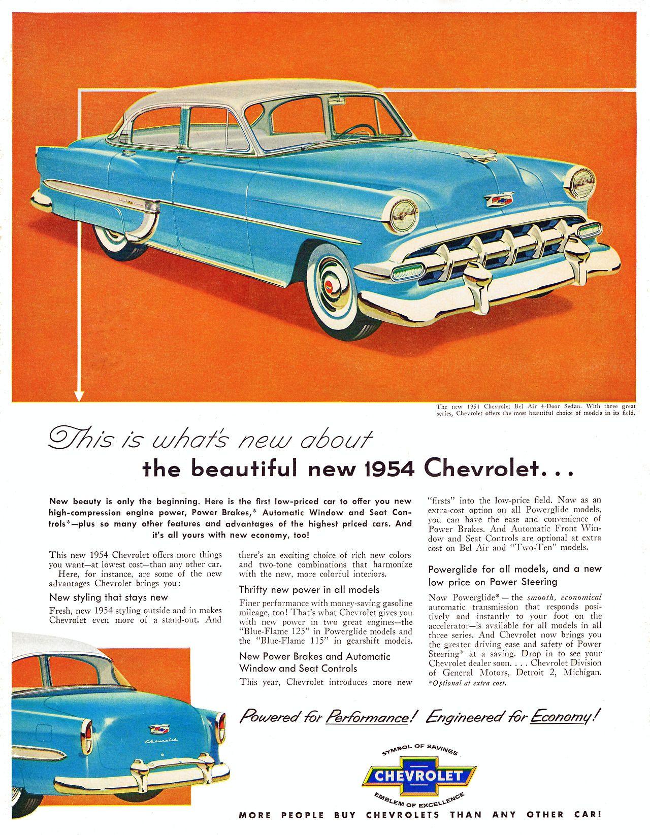 Chevrolet Bel Air, 1954 Chevrolet bel air