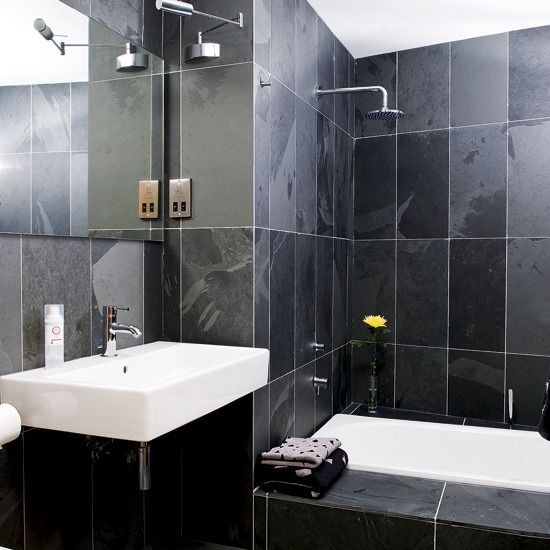 Small Black Bathroom Designs Tiles Housetohome With Beautiful
