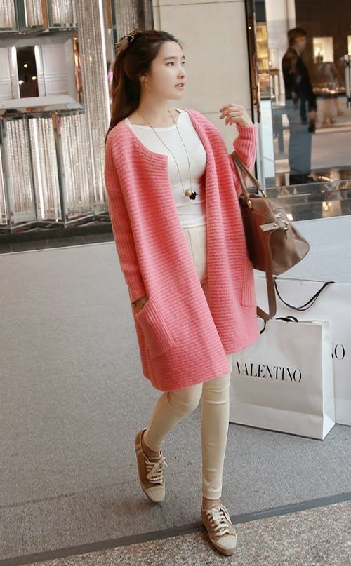 Extra Long Ribbed Cardigan   Women's outfits   Pinterest   Fashion ...