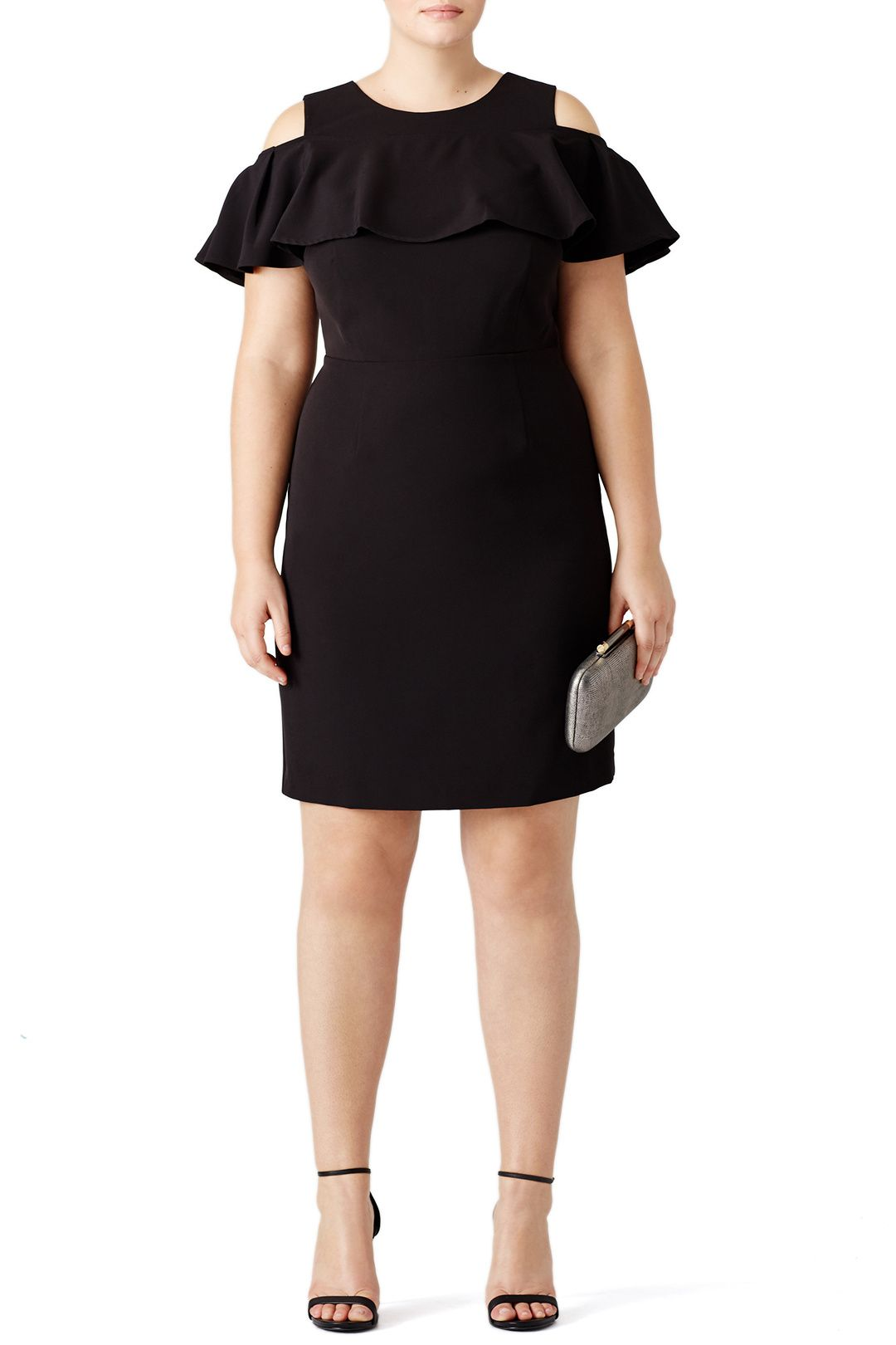 Rent Cold Shoulder Ruffle Dress by ELOQUII for 30 only at