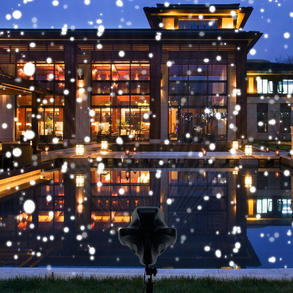 Halloween House Design Snowfall Outdoor Led Christmas Lights