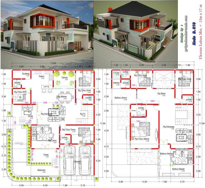Contoh Desain Rumah Minimalis 2 Lantai Hook Cek Bahan Bangunan