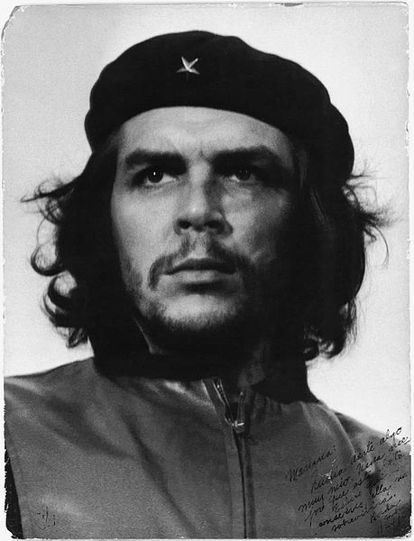 Popularized cropped version of Guerrillero Heroico - Che Guevara at the funeral for the victims of the La Coubre explosion. Photo taken on 5 March 1960; published within Cuba in 1961, internationally in 1967.