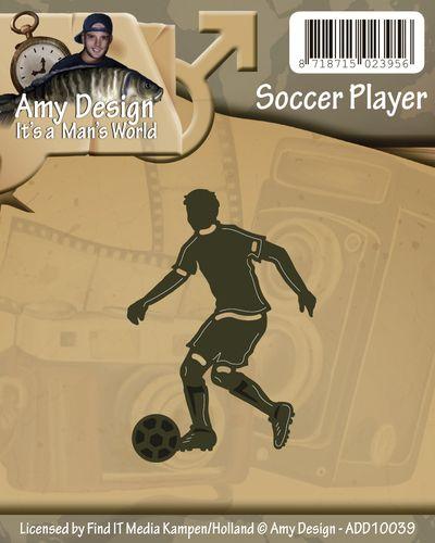 Scrapbooking Embossing, Crafts Footballer Soccer Player Metal  Die Cutter