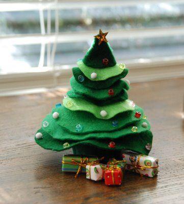 Miniature Felted Wool Wreaths Mini Felt Christmas Trees Felting Craftgoss Mini Christmas Tree Felt Christmas Tree Felt Christmas