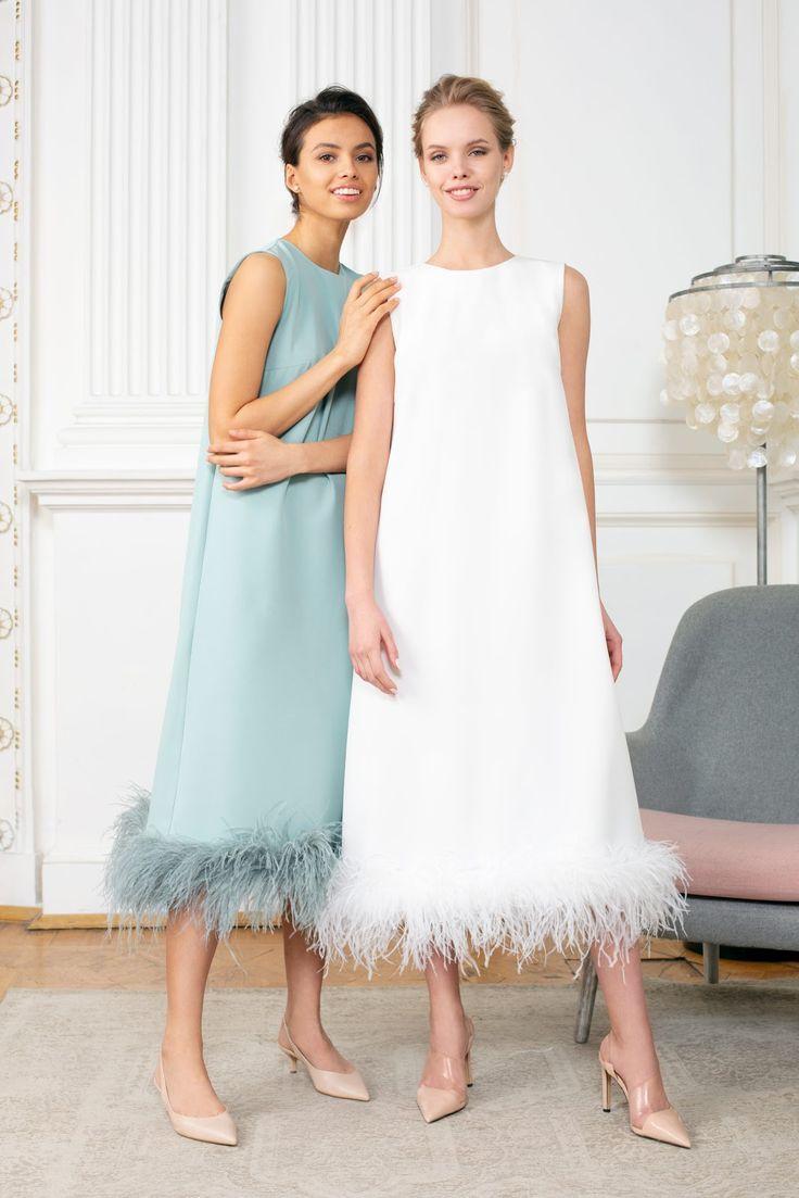 Airy Feminine Dresses by Yulia Prokhorova Beloe Zoloto. Moscow Fashion Week