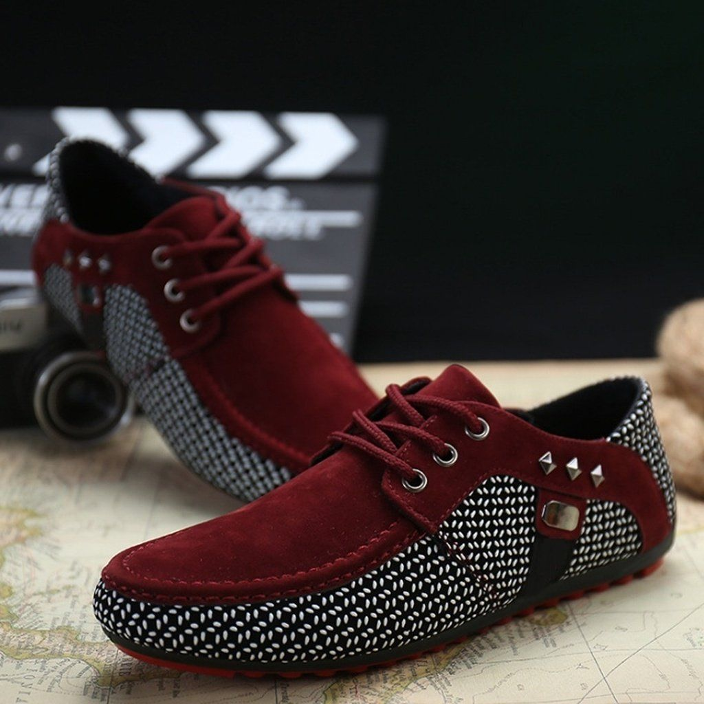 Men/'s Driving Casual Leather Shoes Lazy Peas Breathable Moccasins Loafers Flats