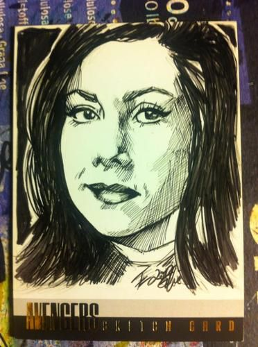 AVENGERS-EMMA PEEL- ARTIST PROOF-STRICTLY INK PRODUCTION-ELFIE LEBOULEUX