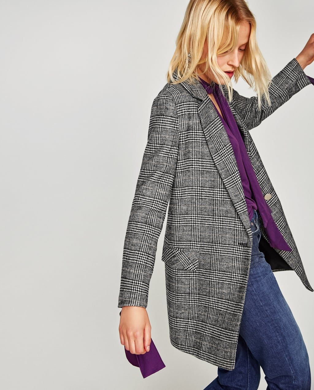 45f554f6 DOUBLE BREASTED CHECKED BLAZER-TRENDING NOW-WOMAN | ZARA United States