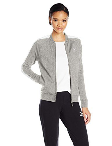 6c79a90668c1 PUMA Womens Archive Logo T7 Track Jacket Light Gray Heather M     Learn  more by visiting the image link.(This is an Amazon affiliate link and I  receive a ...