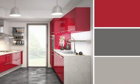 Quelles couleurs se marient avec le rouge ? - Photo Cuisine Rouge Et Grise