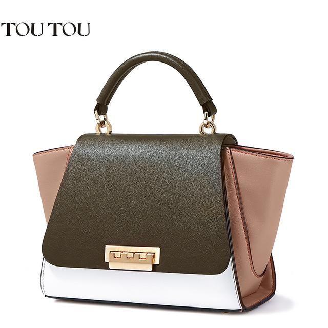 TT036 2017 New Designer Women Handbags candy Mocha color high quality  Leather chain girl s Handbags Ladies Tote shoulder Bag 5cf800c7949d6