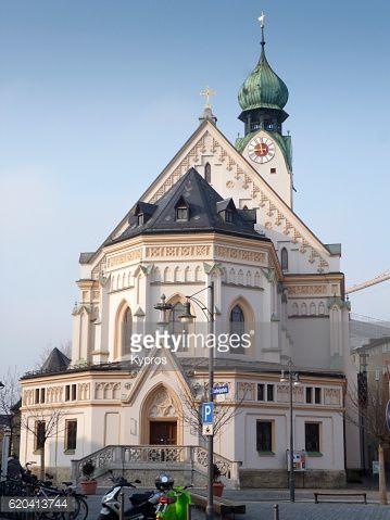 Europe, Germany, Bavaria, Rosenheim, View Of St. Nikolaus (Sankt... #sanktgilgen: Europe, Germany, Bavaria, Rosenheim, View… #sanktgilgen