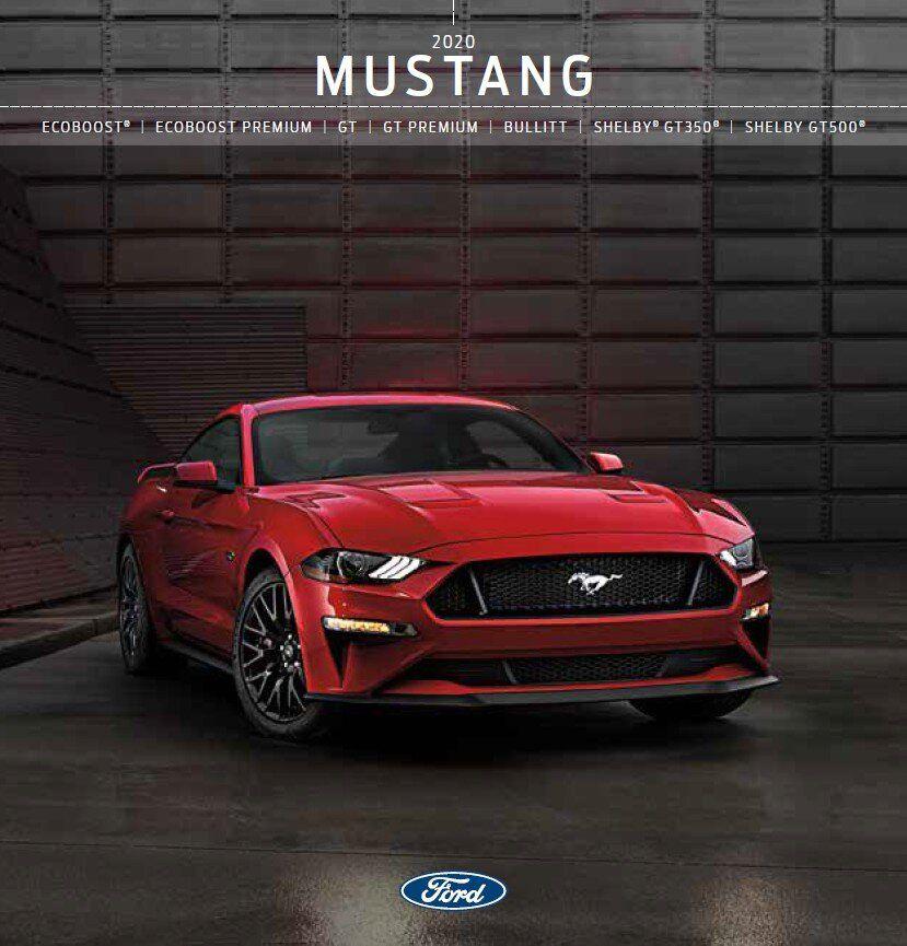 2020 Ford Mustang Brochure Ford Mustang Mustang Ford