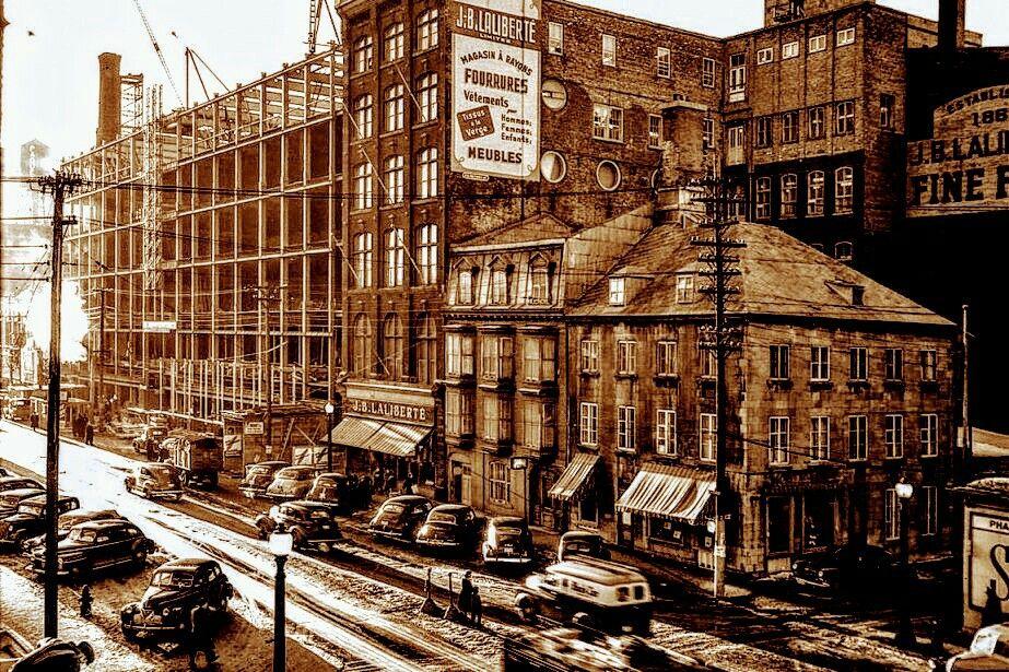 Magasin J B Laliberte Dans St Roch Vers 1949 Old Quebec Quebec City Quebec Canada
