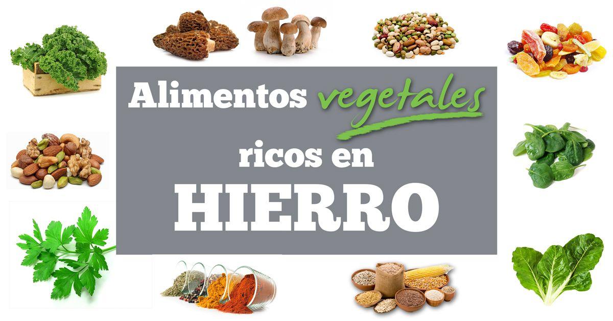 El Hierro En La Dieta Vegana Y Vegetariana Alimentos Con Hierro Dieta Vegana