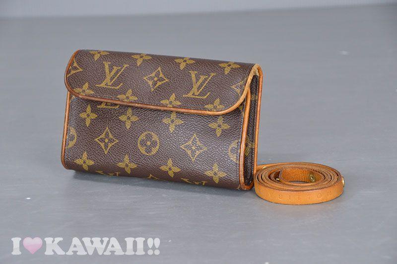 e94709f04 Authentic Louis Vuitton Monogram Pochette Florentine Waist Pouch M51855