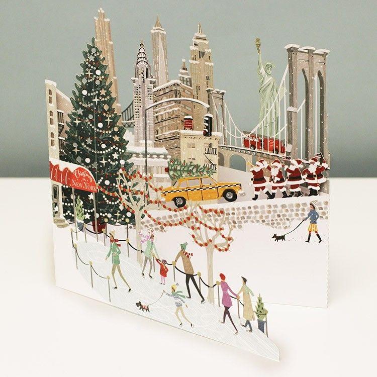 MeAndMcQ \'New York\' 3D Christmas Card | Old Christmas postcards ...