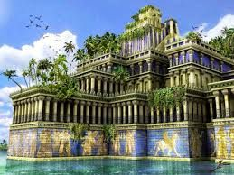 Hangende Garten Von Babylon Weltwunder Google Suche Hangender Garten Fantasielandschaft Turm Von Babylon