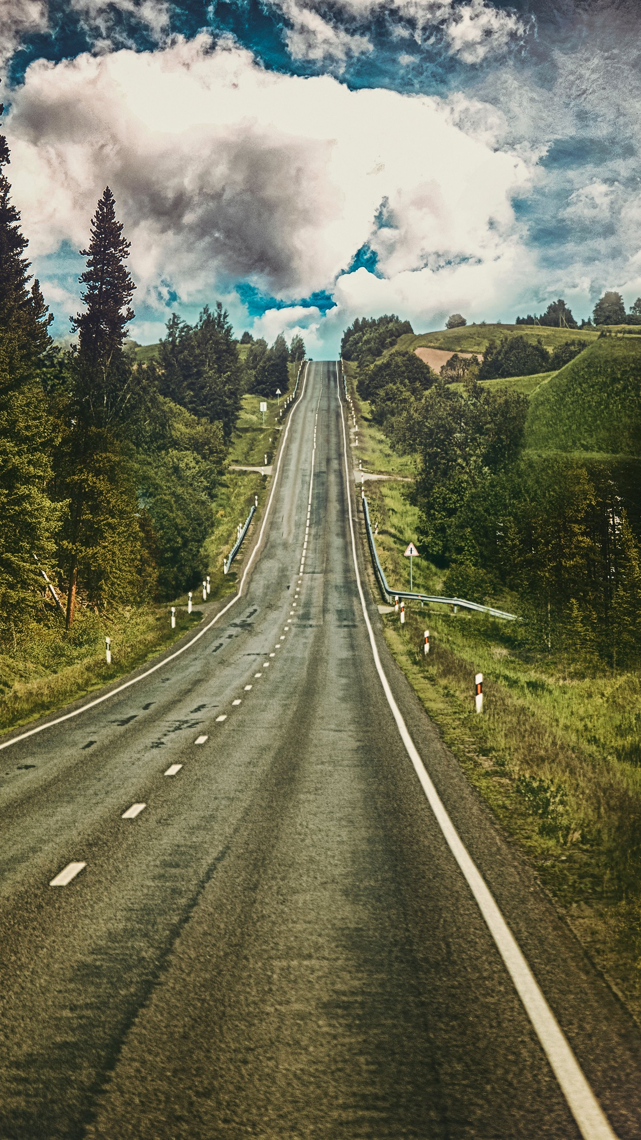 Nature Road Marking Rise Wallpapers Hd 4k Background For Android 1080p Wallpaper Nature 4k Background