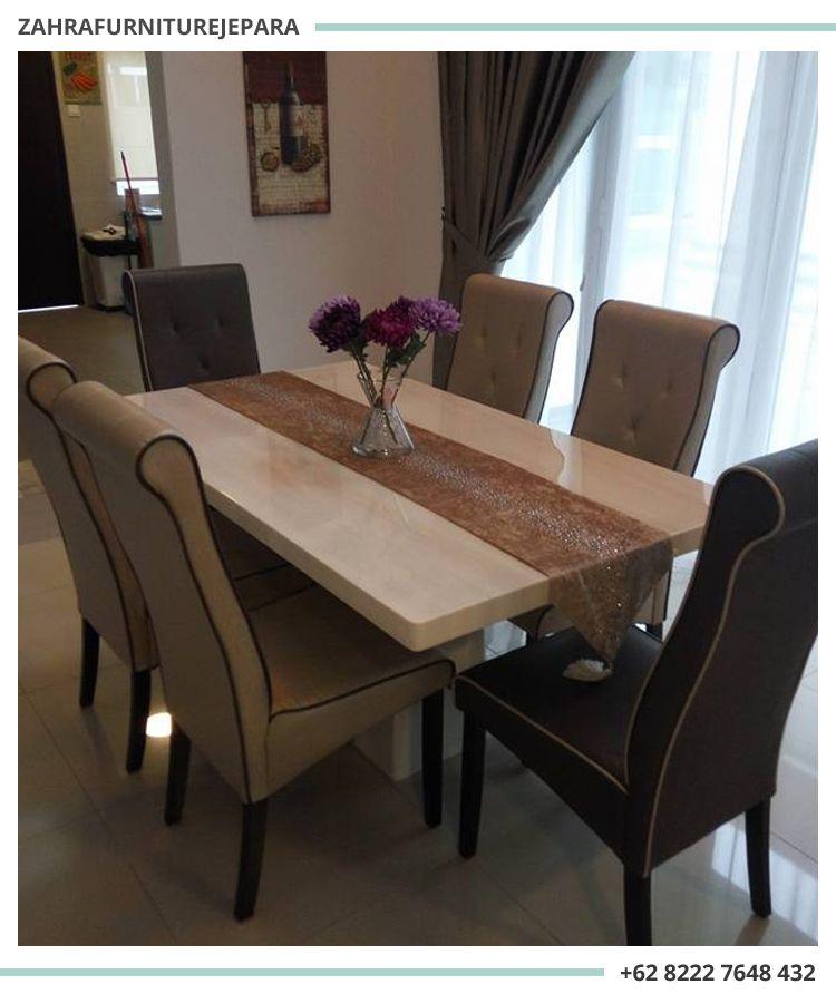 Dining Set Minimalis Modern 6 Kursi Mewah Kursi Rumah Dan