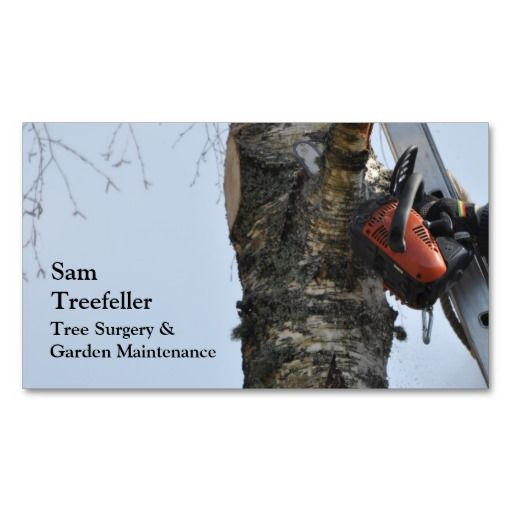 Tree Surgery Business Card Business Card Texture Business Cards Cards