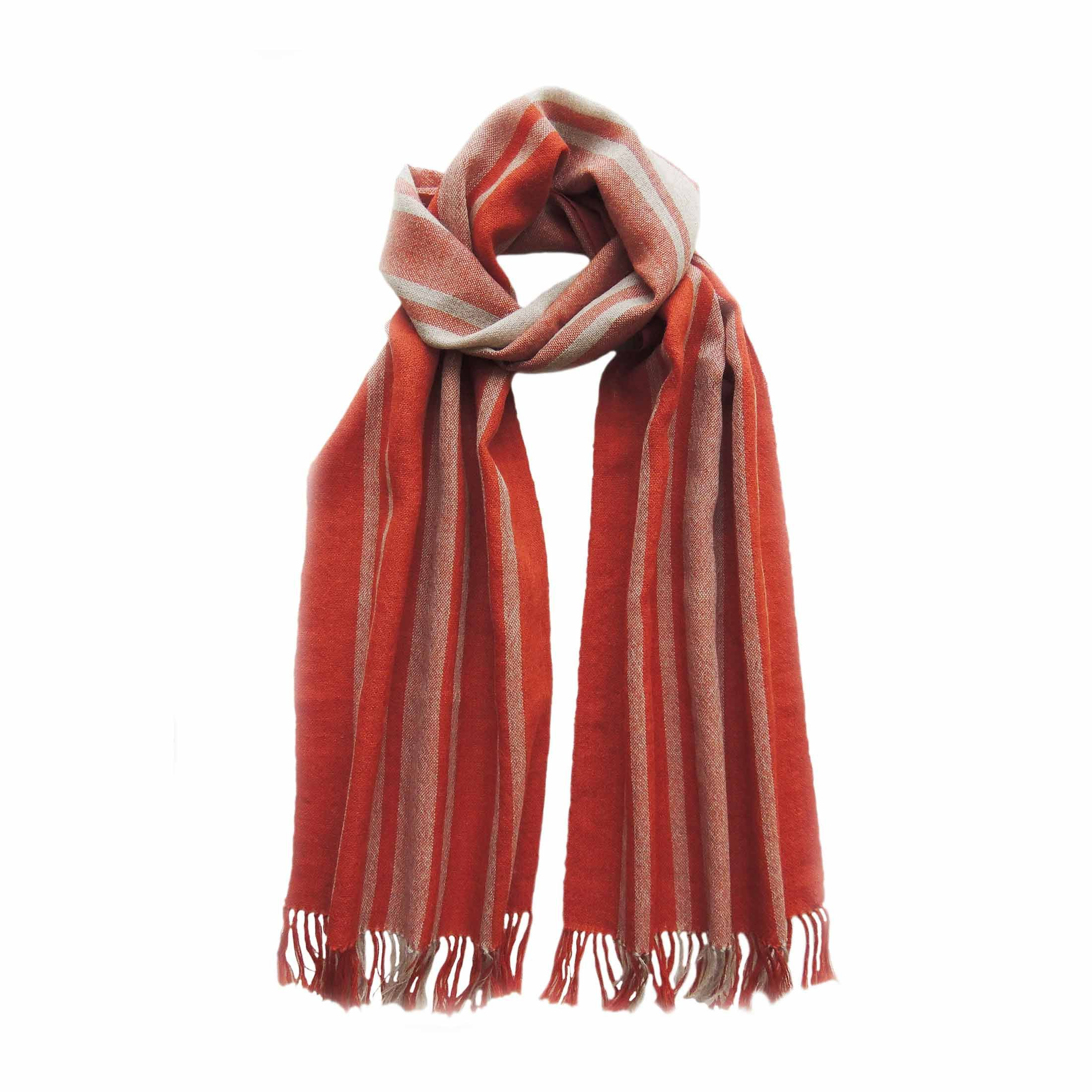 Women S Scarf Fine Handwoven 100 Baby Alpaca With Stripe Etsy In 2020 Baby Alpaca Handwoven Scarf Womens Scarves