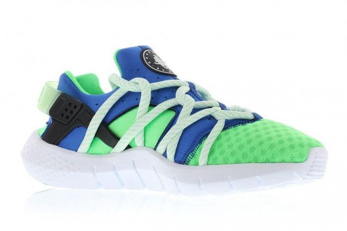 Nike Air Huarache Womens Mens White Blue Green Sneakers Super Deals