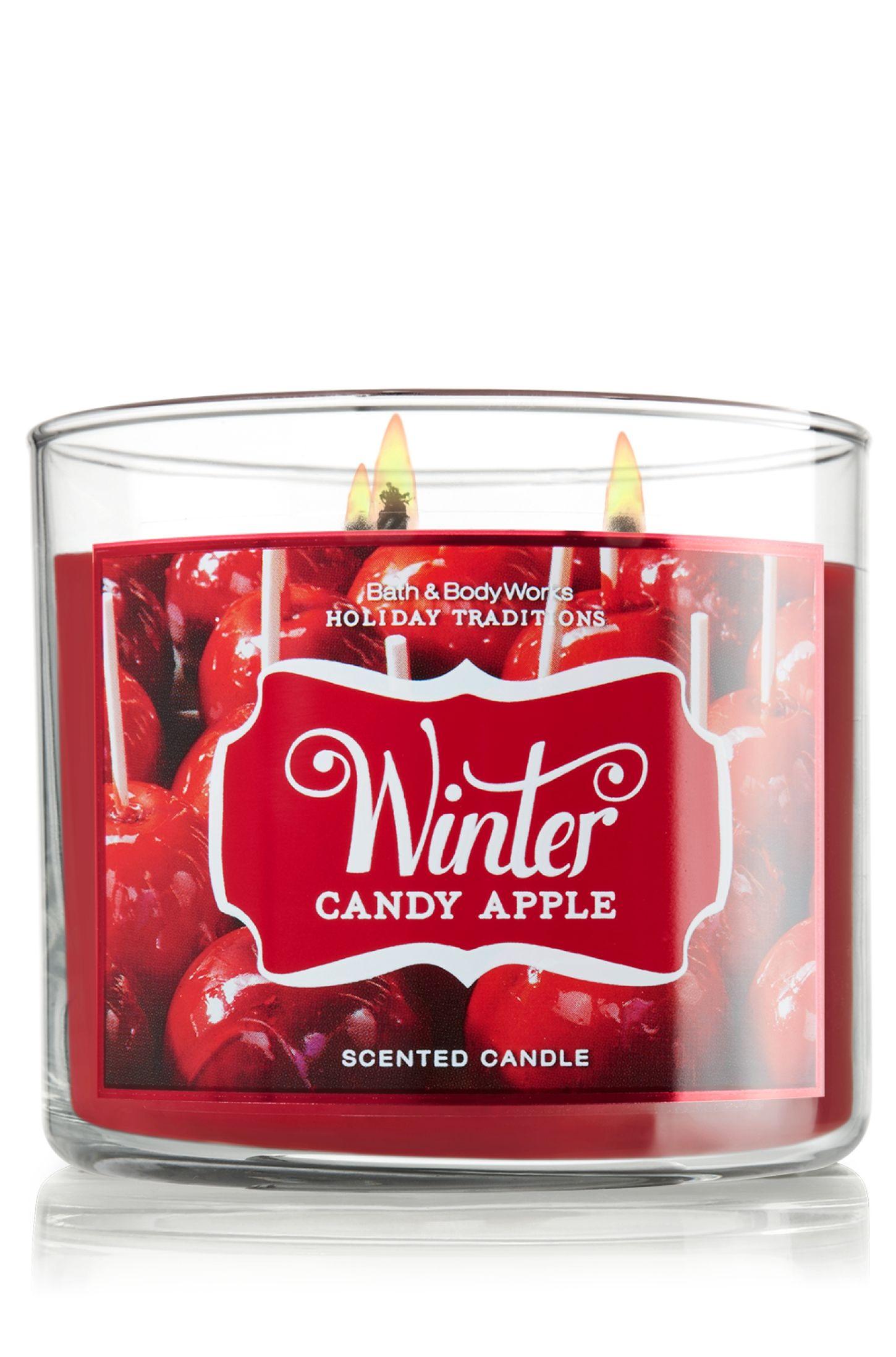 Winter Candy Apple 14 5 Oz 3 Wick Candle Slatkin Co Bath