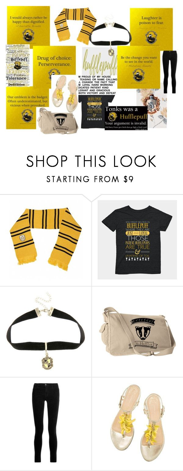 """""""Hufflepuff Pride"""" by thatonemockingjay on Polyvore featuring Warner Bros. and J Brand"""