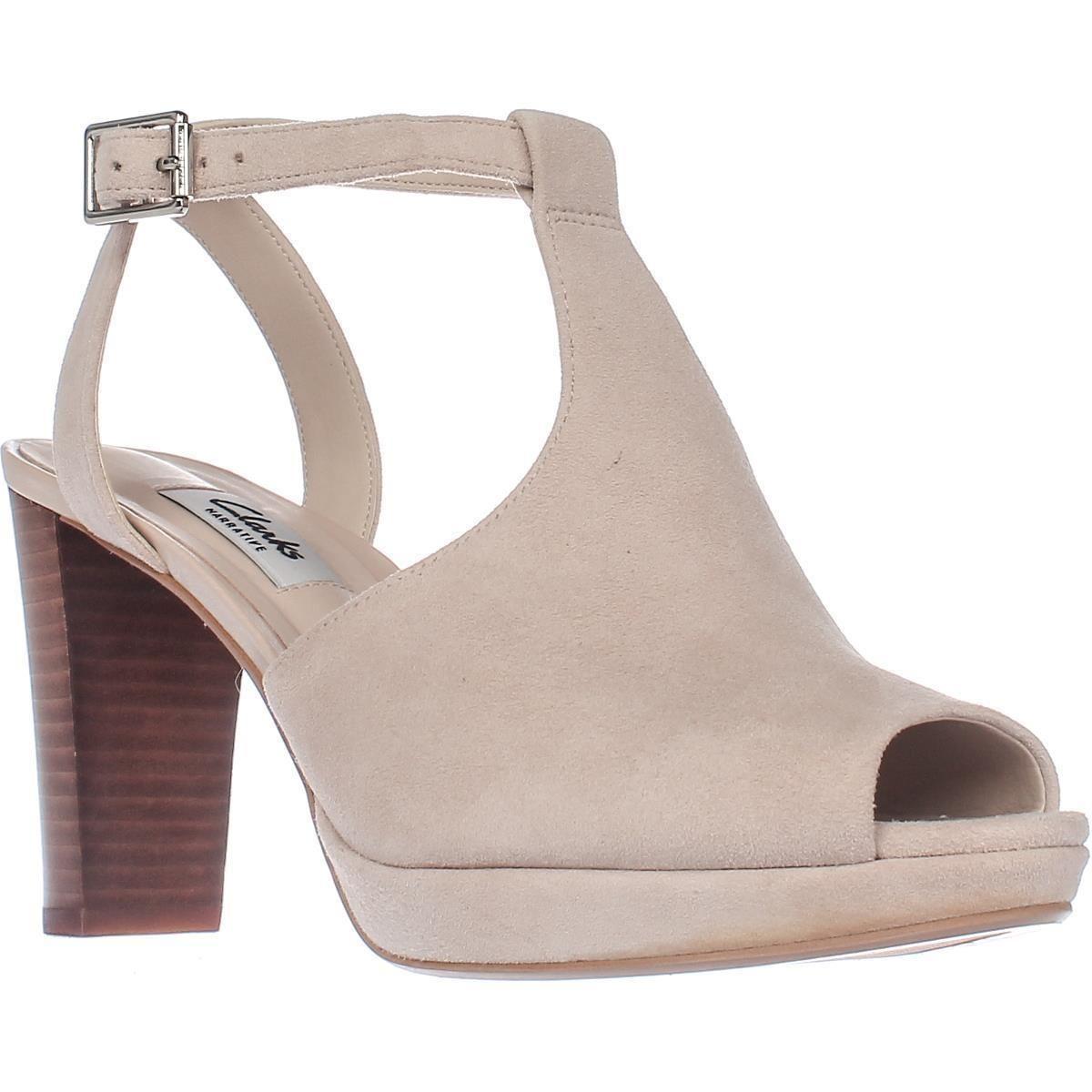 1f3cde84b6ca Clarks Kendra Charm T-Strap Comfort Heel Sandals