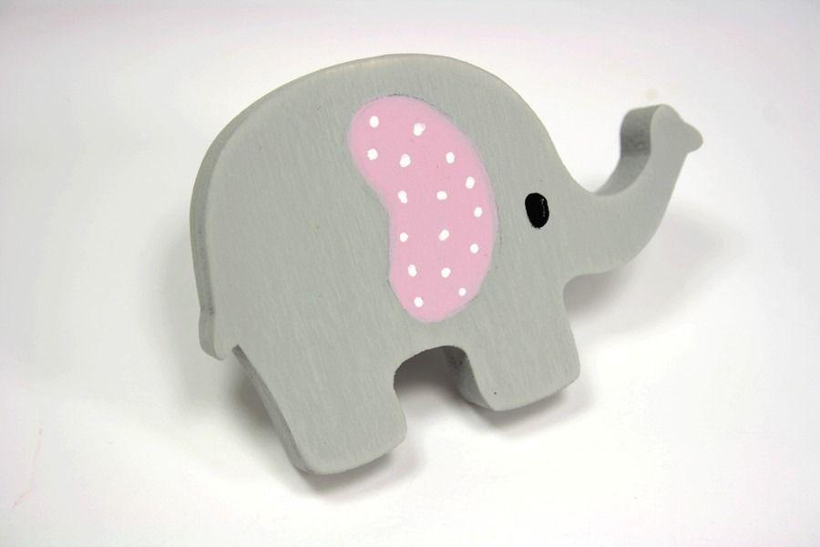 Elephant, Dresser knob, furniture cabinet knob, elephant color gray - meuble en bois repeint