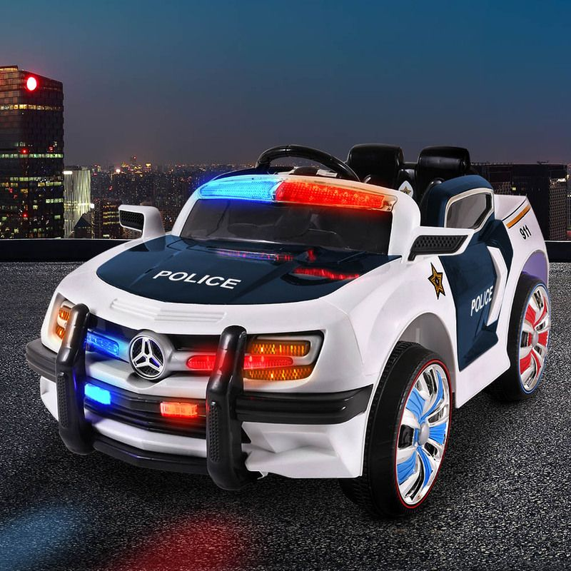 Kids Ride On Car Police Electric Toys Cars Remote Control
