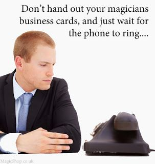 How to use magicians business cards better